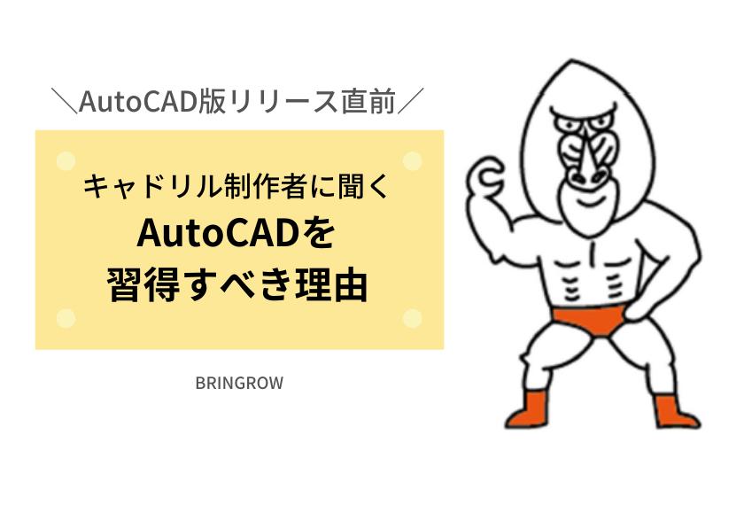 AutoCAD版「キャドリル」リリース直前インタビュー!AutoCADの習得をすすめる理由