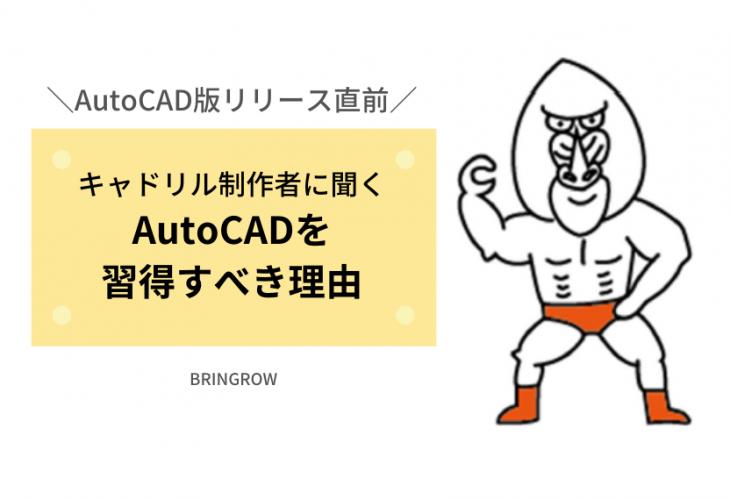 キャドリル制作者に聞くAutoCADを習得すべき理由